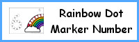 Rainbow Number Dot Marker & Counting