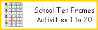 School Ten Frame Activities 1-20