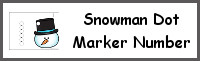 Snowman Number Dot Marker & Counting