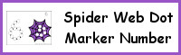 Spider Web Number Dot Marker & Counting