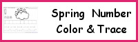 Spring Themed Number Color & Trace