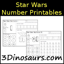 Star Wars Number Printables