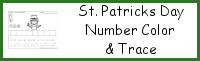 St Patrick's Day Themed Number Color & Trace