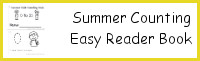 Summer Kids Counting Easy Reader Book