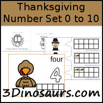 Thanksgiving Number Set 1 to 10