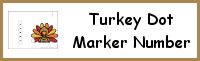 Turkey Number Dot Marker & Counting