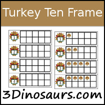 Turkey Ten Frame Printables