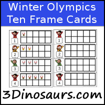 Winter Olympics Ten Frame Printables