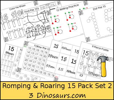 Romping & Roaring Number 15 Pack set 2 - 3Dinosaurs.com