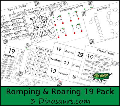 Romping & Roaring Number 19 Pack - 3Dinosaurs.com