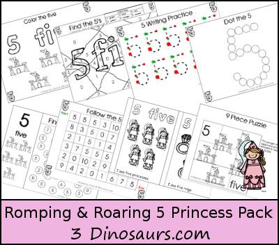 Romping & Roaring Number 5 Princess Theme Pack