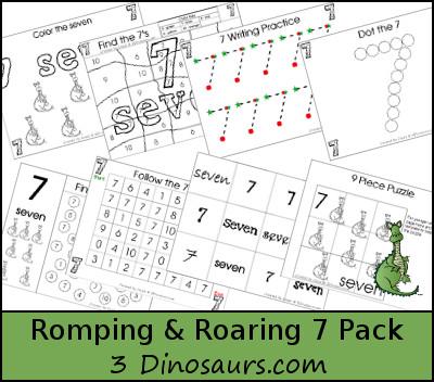 Romping & Roaring Number 7 Pack