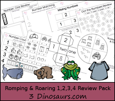 Romping & Roaring Number 1,2,3,4 Review Pack - 3Dinosaurs.com