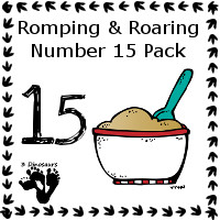 Romping & Roaring Number 15 Pack Set 1 - cooking theme - 3Dinosaurs.com
