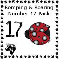 Romping & Roaring Number 17 Pack - 3Dinosaurs.com