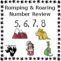 Romping & Roaring Review 5, 6, 7, 8 with Princess Theme Pack