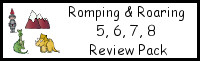Romping & Roaring Number 5,6,7,8 Review Pack With Knight Theme