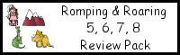 Romping & Roaring Number 5,6,7,8 Review Pack (with Princess Theme)