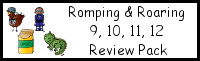 Romping & Roaring Number 9,10,11,12 Review Pack (with Superhero Theme)