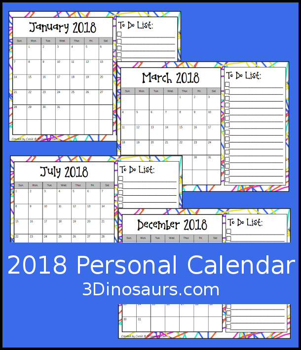 Looking Back At  January  Goals   Calendar   Dinosaurs