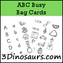 ABC Busy Bag Cards