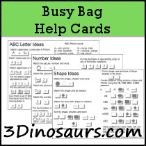 Busy Bag Help Cards