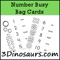 Number Busy Bag Cards
