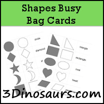 Shape Busy Bag Cards