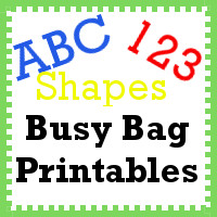 Busy Bag Printables Printables