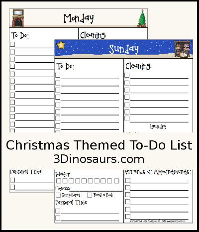 free christmas to do list printable 3dinosaurscom