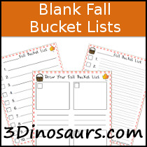 Blank Fall Bucket List