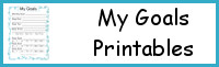My Goals Printables