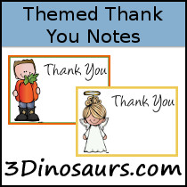 Themed Thank You Notes