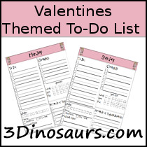Valentines Theme To Do List Printable