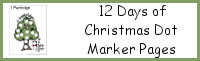 12 Days of Christmas Dot Marker Pages