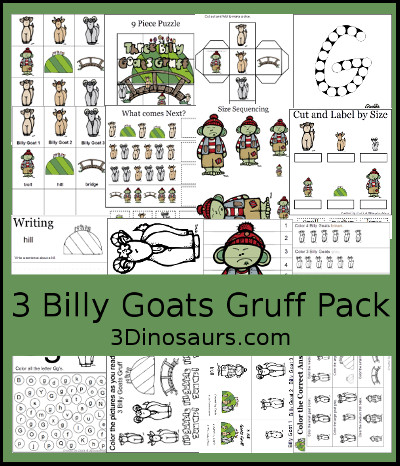 3 Billy Goats Gruff Printables