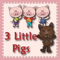 picture regarding Three Little Pigs Printable known as 3 Dinosaurs - 3 Tiny Pigs Pack