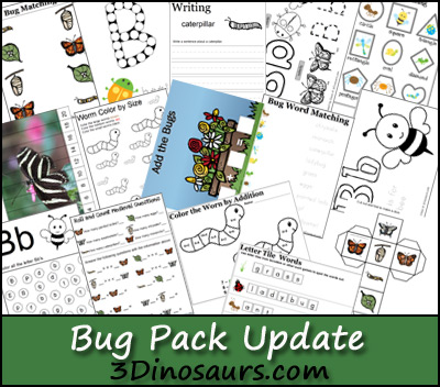 Bug Printables Update