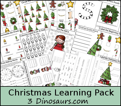 Free Christmas Learning Pack! - 3Dinosaurs.com