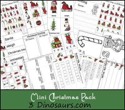 Free Mini Christmas Pack Update! - 3Dinosaurs.com