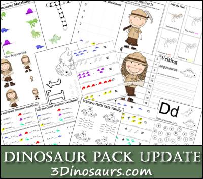 Dinosaur Printables Update