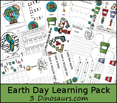 earth day free learning printables