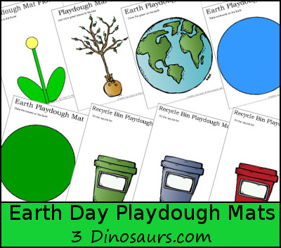Free Earth Day Playdough Mats