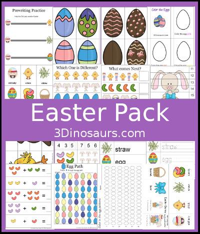 Spring Crafts Preschool Homeschool Instant Download Easter Kids Printable Activity Pack