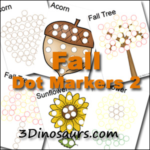 Fall Pack Extra: More Fall Dot Marker Pages