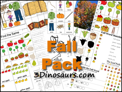 Free Fall PreK Pack