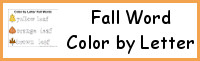 Fall Themed Word Color by Letter