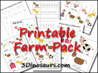 3 Dinosaurs - Farm Pack