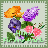 Printable Mini Flower Pack