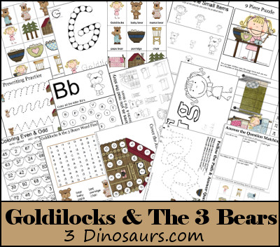 It's just a graphic of Goldilocks and the Three Bears Story Printable regarding scene